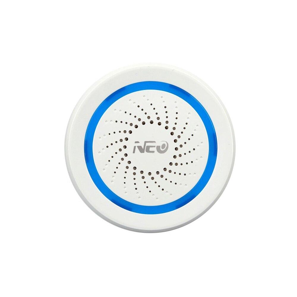 NEO Z-vague Plus Sans Fil Domotique Batterie-Alimenté Peut Également Être Chargé USB Sirène D'alarme Capteur