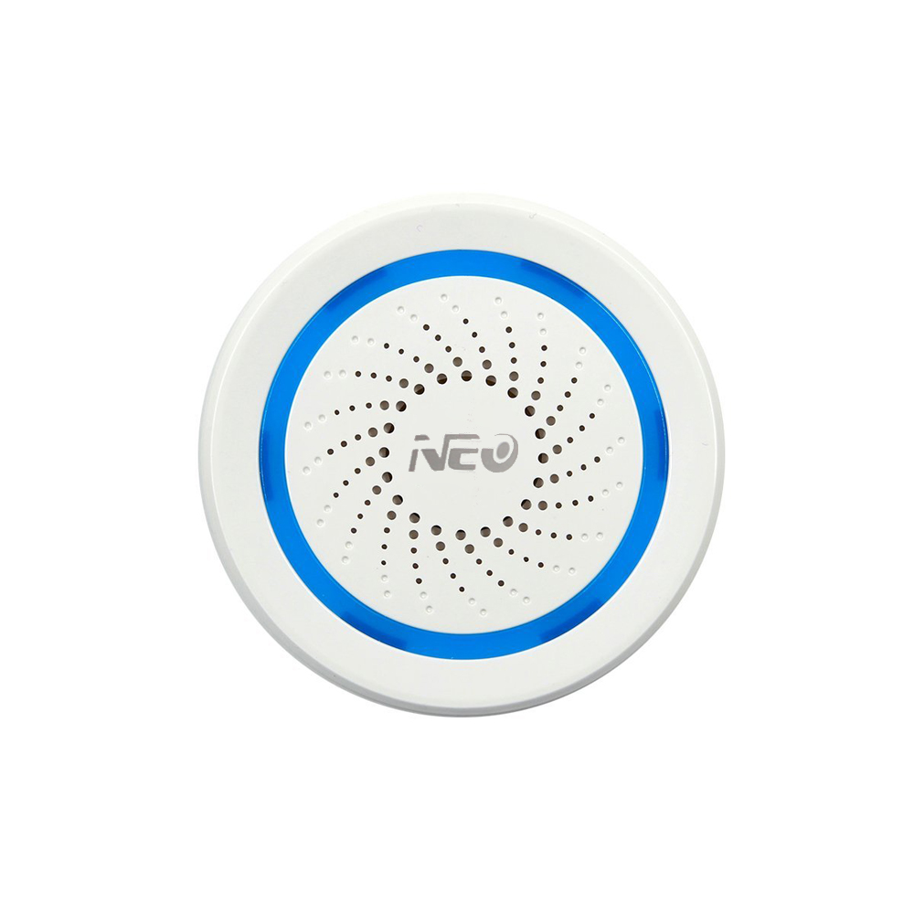 NEO Z-wave Plus Wireless Home Automation Battery-Powered Also Can Be Charged With USB Siren Alarm Sensor