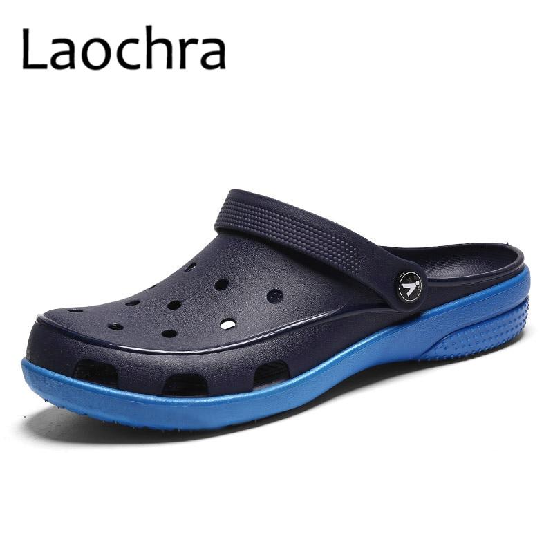 LAOCHRA 여성 비치 샌들 구멍 패션 플랫 Ourdoor 여름 - 여성 신발