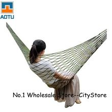 Free Shipping 100 pcs/lot Summer Lightweight Nylon meshy hammock light and portable Single Max load 100KG 240*80 cm mix color(China)