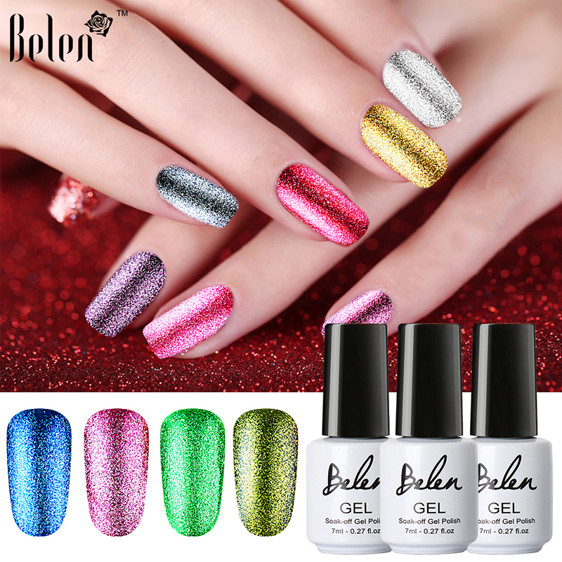 Belen 7ml Bling Color Platinum Nail Gel UV Gel Nail