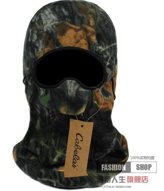 Outdoor Warm Neck Hunting Full Face Mask Beanies Cabelas Leaves Bionic  Camouflage fleece thermal winter hat hunting fishing mask de78894a246