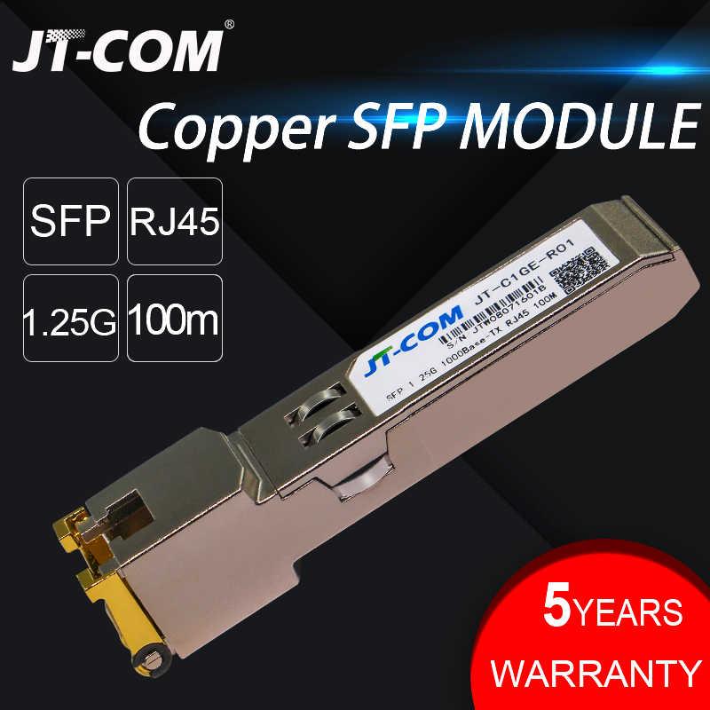 Gigabit RJ45 Copper SFP Transceiver Module Compatible with Cisco/Mikrotik  GLC-T/SFP-GE-T 1000Base-T Ethernet FTTH Fibra Optical