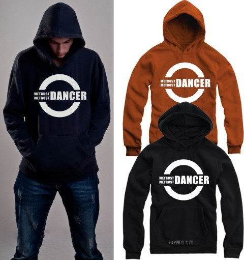 2016 Autumn winter men's dancer waackin housejazz bboy hip-hop with a hood fleece lined sweatshirts Male hoodies Homens camisola