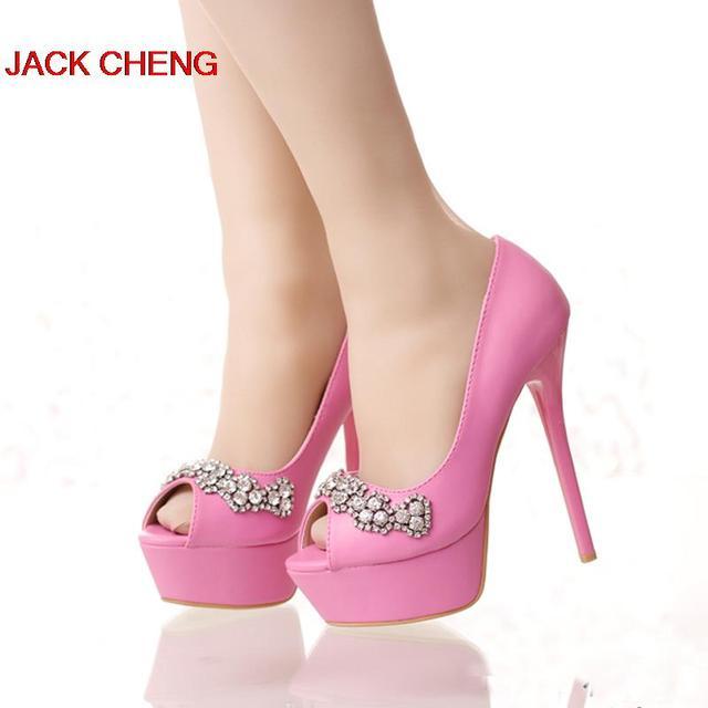 58272ea1 Adorables zapatos de dama de honor de tacón de aguja de Color rosa rojo blanco  zapatos
