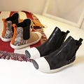 Free Shipping Women Fashion Genuine Leather Chelsea Boots Women Spring Plush Boots with Rivets Size 35-40