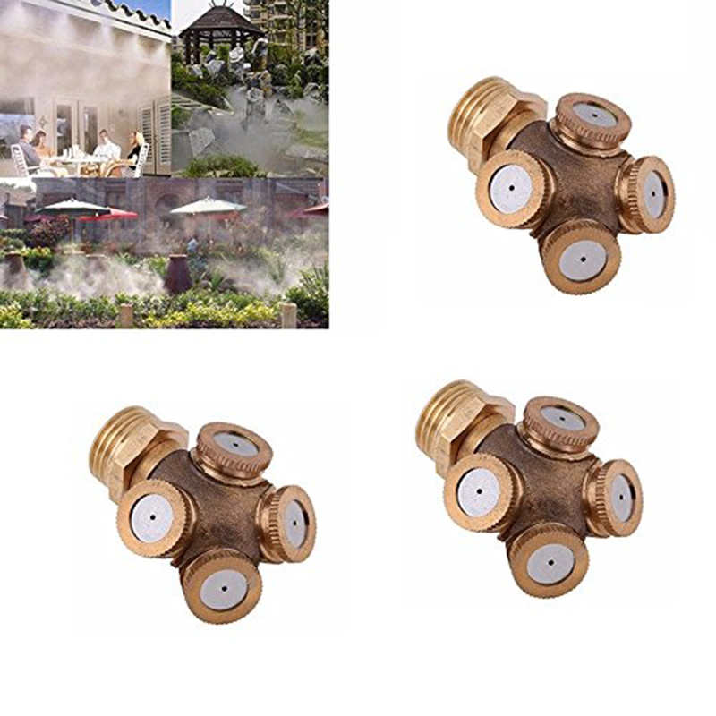 Atomizing Nozzle, 4 Hole Agricultural Spray Nozzle Garden Sprinkler Irrigation System, 3 Piece, With 1/4 To 1/2 Accessory Adap-in Sprayers from Home & Garden