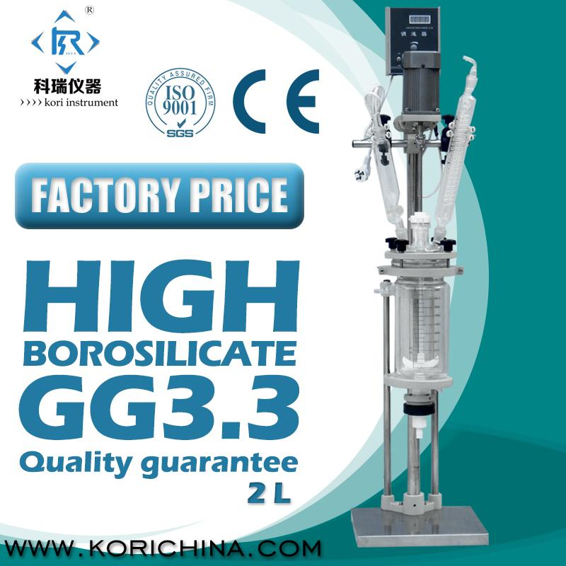 SF-5L High Borosilicate GG3.3 Jacketed Bioreactor/Glass Reactor vessel with PTFE Seal for Laboratory heat/Reaction/distillation 10l batch glass reactor glass lined jacketed reactor vessel for chemicaland pharmaceuticals industry with condenser with ptfe
