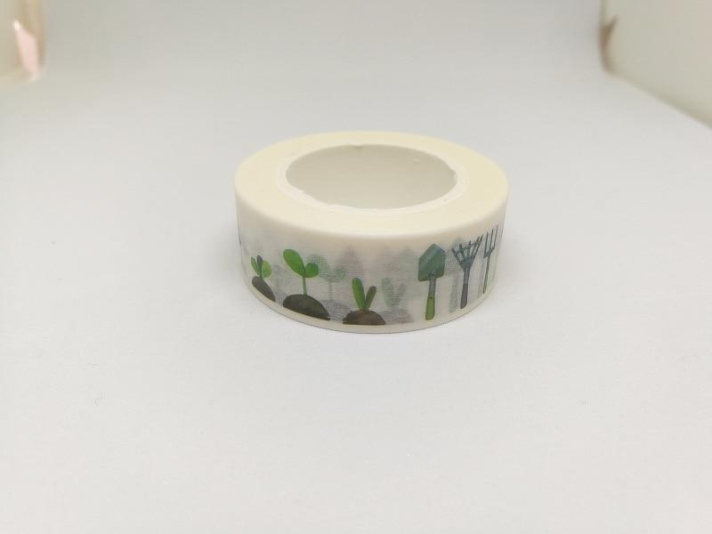 2pcs/lot Lovely Garden Washi Tape DIY Decoration Scrapbooking Sticker Label Masking Tape School Office Supply