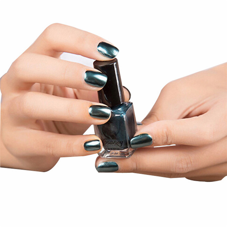 Best зеркало Лаки для ногтей покрытие вставить металла Цвет Нержавеющаясталь зеркало серебро Лаки для ногтей для Дизайн ногтей Темно-синий ...