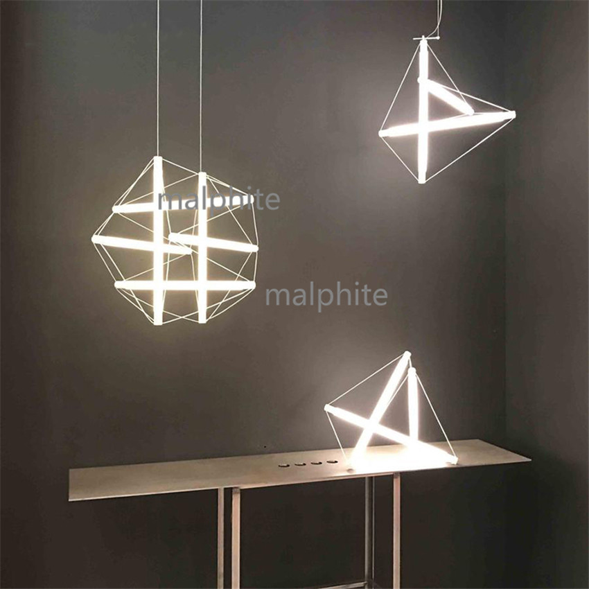 Nordic Style Vogue Design Lighting Light Fixture Living Room Bedroom Simple Home Decor Pendant Lamp Loft LED Long Hanging Light