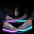 2016 Led shoes for adults 35-44 women casual shoes light plus size Luminous canvas shoes