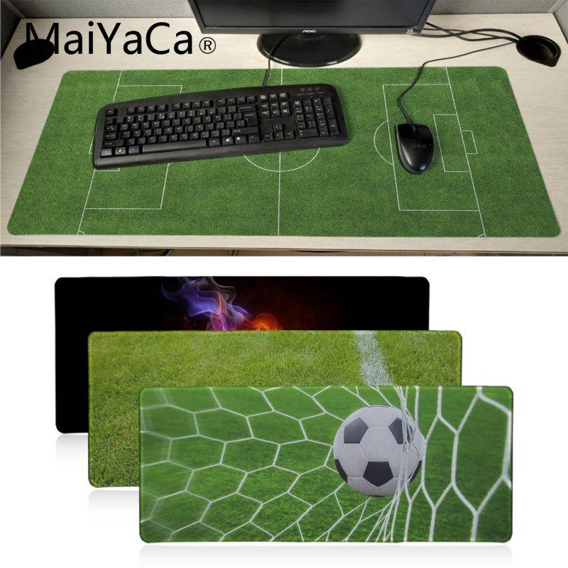 MaiYaCa Garçon Cadeau Pad Terrain De Football Haute Vitesse Nouveau Tapis De Souris Grand Gaming Mouse Pad Lockedge Tapis de Souris Clavier Pad