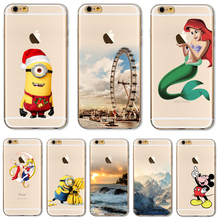Soft TPU Cover For Apple iPhone 5 5S SE 6 6S 7 7Plus Case Cases Phone Shell Newest Patterns Luxury Mermaid Rivers Silicon
