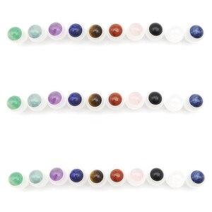 Image 4 - 50 stücke Natürliche Edelstein Roller Ball Fit 5ml 10ml Dicken Glas Ätherisches Öl Rolle Auf Flaschen