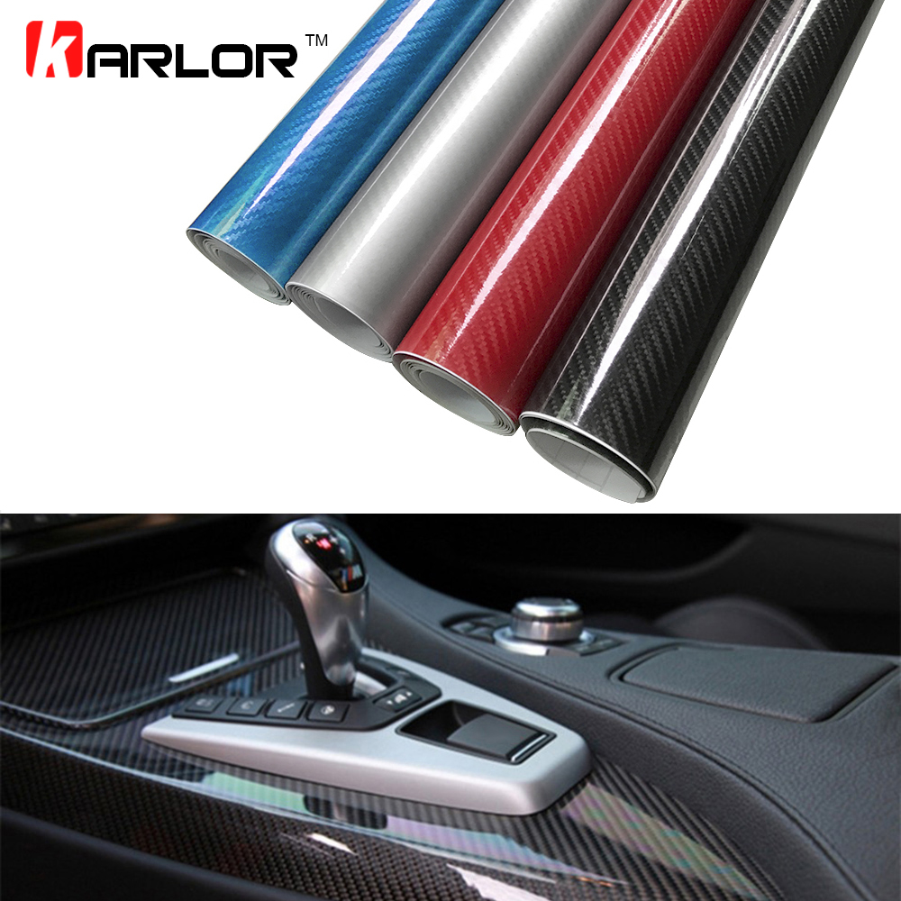 цены 30x100cm 5D High Glossy Carbon Fiber Vinyl Wrap Film Auto Car Truck Interior DIY Decoration Sticker Car Styling Accessories