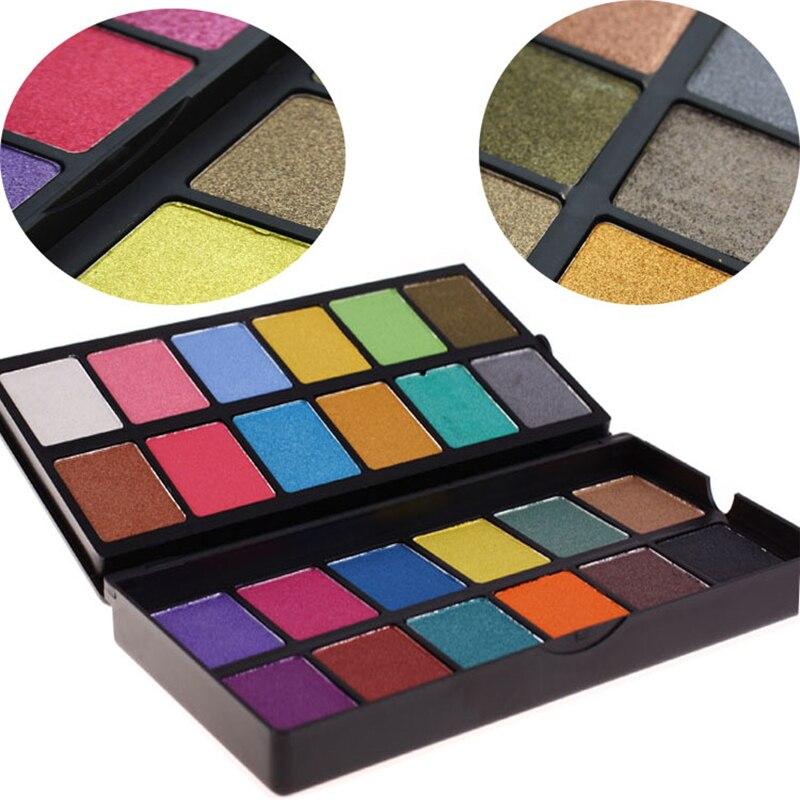 novo 24 cores shimmer da paleta da sombra de olho 2 camadas design pressionado pigmento em