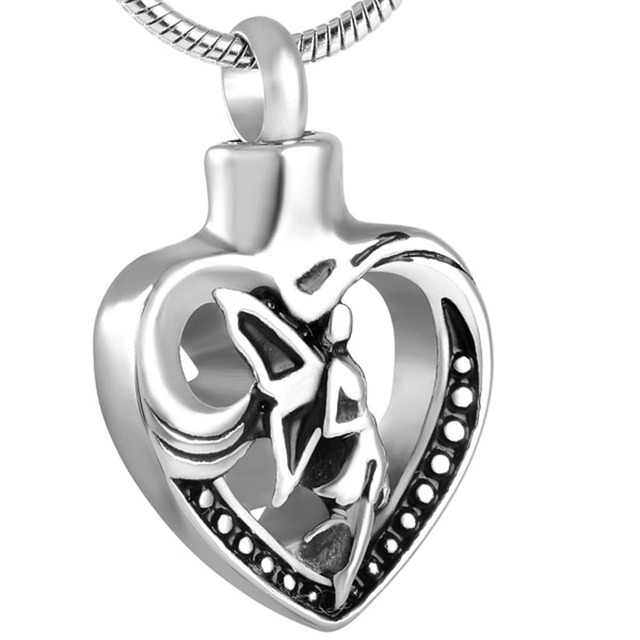 Angel in Heart Memorial Necklace