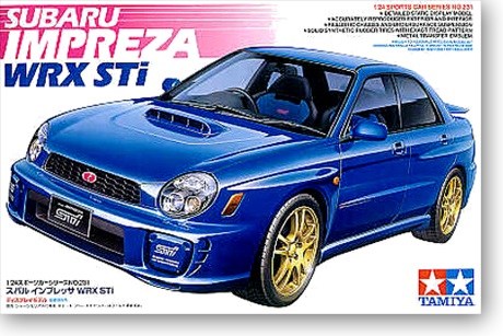 1/24 SUBARU IMPREZA WRX STI Racing Car Model (24231)