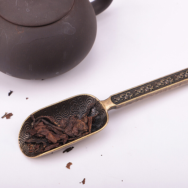 Chinese Tea Spoon Copper Tea Scoop Spoon Tea Holder Kongfu Tea Accessories Tools