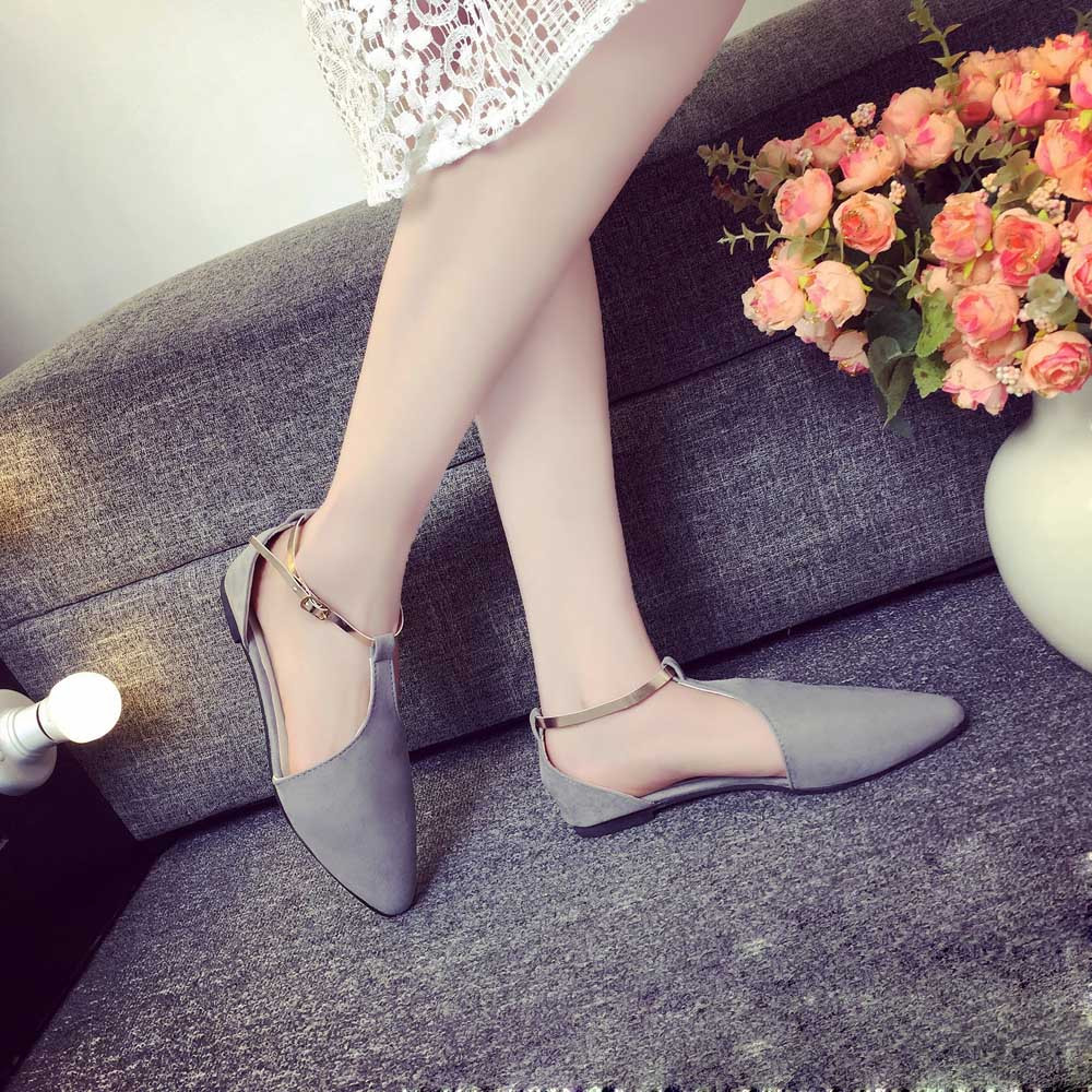 2017 Spring New Fashion Women Sweet Suede Slip On Shoes Girls Pointed Toe Casual Flat Shoes Ladies Elegant Soft Shoes Mar30 sweet women high quality bowtie pointed toe flock flat shoes women casual summer ladies slip on casual zapatos mujer bt123