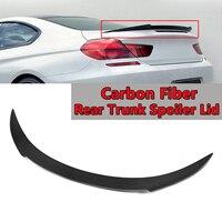 Real Carbon Fiber Rear Trunk Spoiler Lid For BMW F13 F06 640i 650i M6 2012 2016 V Style Rear Wing Spoiler Rear Trunk Black 130cm