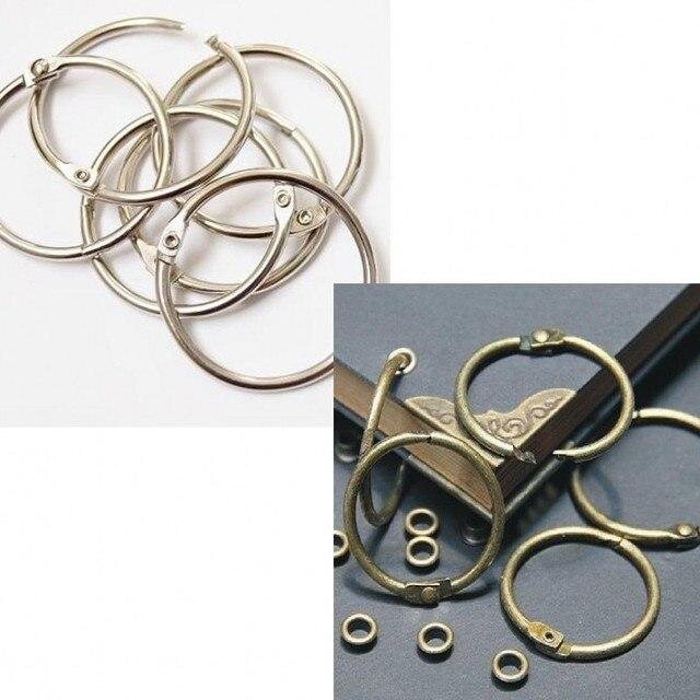 40pcs DIY Photo Album Loose leaf Book Card Circle Key Ring Card ...