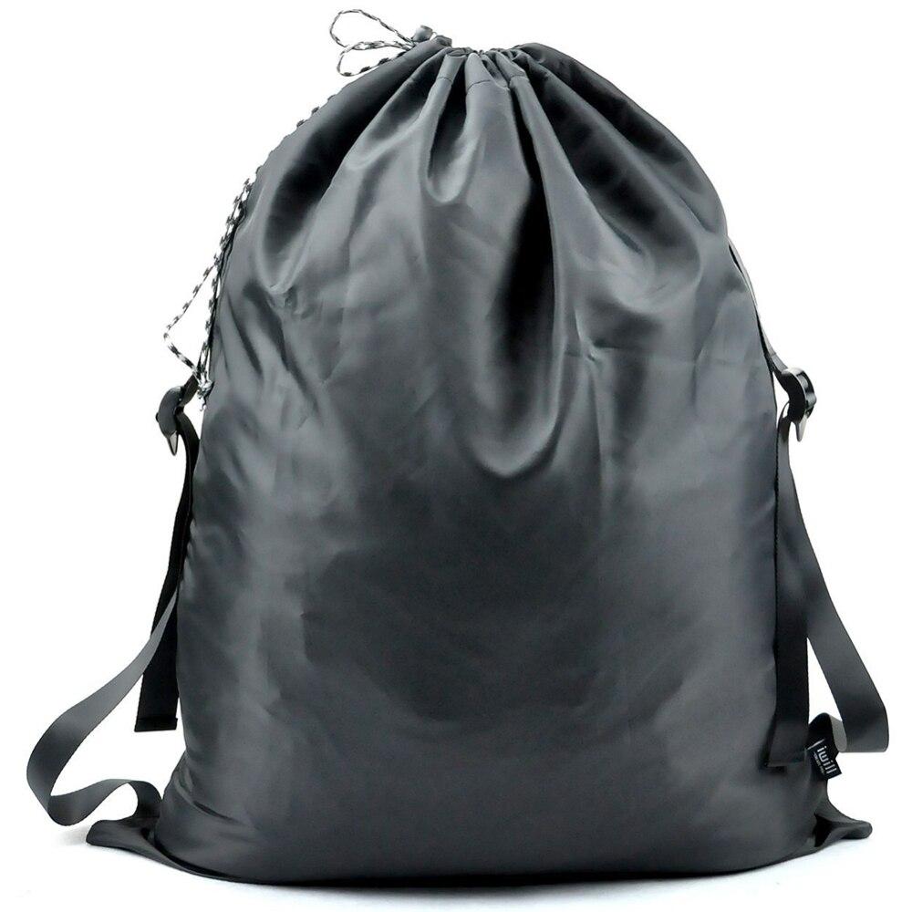 Adjustable Shoulder Straps Laundry Bag Drawstring Closure For College Students Apartment Dorm Large Volume Bag Oxford Cloth