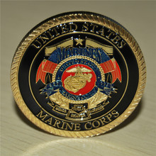 US Marine Corp Challenge coin Collectible Release the Dogs of War Semper Fidelis, Commemorative coins, Free shipping, 1/3/5 pcs