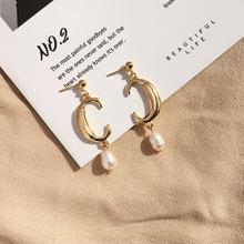 Fashion Gold Long Letter Cc Dangle Earrings Women Vintage Exaggerated Tassel Drop Wedding Jewelry 2019 Pendientes