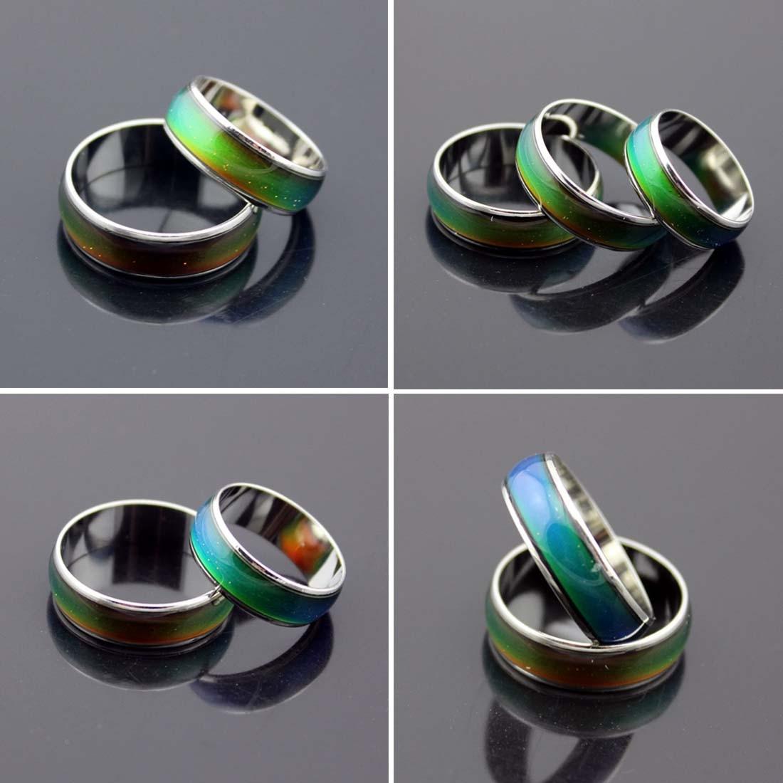 Acero inoxidable temperatura de Color sensible al anillo 6mm ancho anillo  cambia de Color humor anillos 13e68a11a48