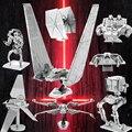 2017 Игрушки Для Детей 3D DIY Star Wars Металла Puzzels Voor Kinderen Развивающие Игрушки KYLO REN'S КОМАНДЫ ТРАНСФЕР 3d Металла головоломки