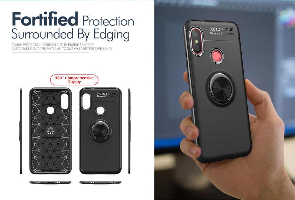 Крепление для спортивной камеры Xiao mi Red mi Примечание 5 силиконовый чехол с магнитным кольцом задняя крышка чехол для Xiaomi Redmi Note 5 4 4X 4A A1 5A mi 6 Pro 6A 8 Lite S2 A2 F1