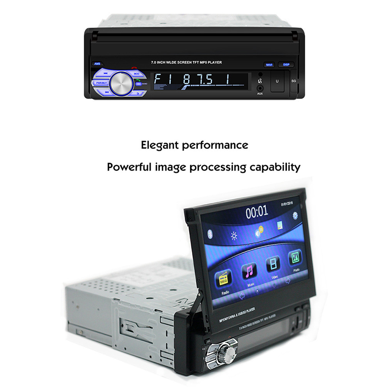 Panlelo T2 1 Din Android Car Stereo Music Audio Player 7 inch 1GB 16GB Quad Core 1080HD GPS Navigation Audio Radio AM FM BT Call in Car Multimedia Player from Automobiles Motorcycles