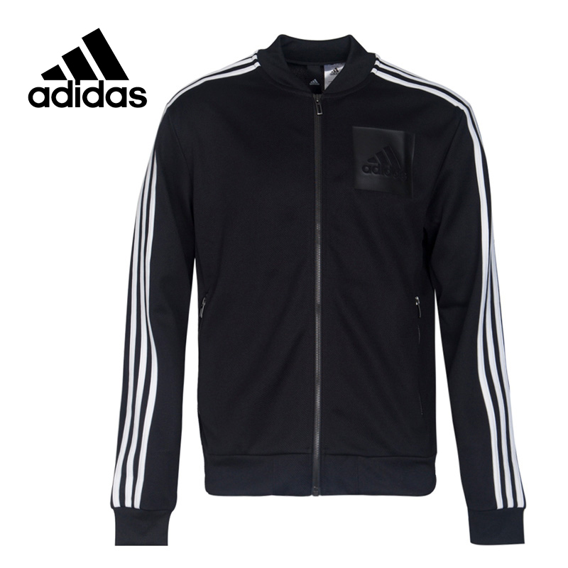 Original New Arrival Official Adidas ID BOMBER TTOP Men's Jacket Sportswear BS4499 striped trim fluffy panel bomber jacket