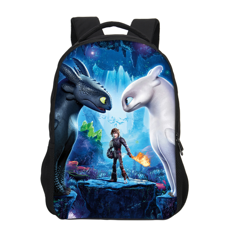 Brand Designer Cartoon How To Train Your Dragon 3D Printing Backpacks For Boys Girls School Bags