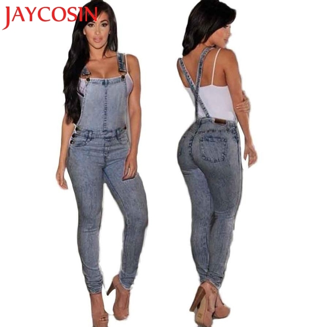 f164596b3bb5 SIF Women s Fashion Summer Sexy Empire Waist Slim Fit Casual Baggy Loose  Jeans Denim Overalls Pants Jumpsuit Long Romper MAY 12
