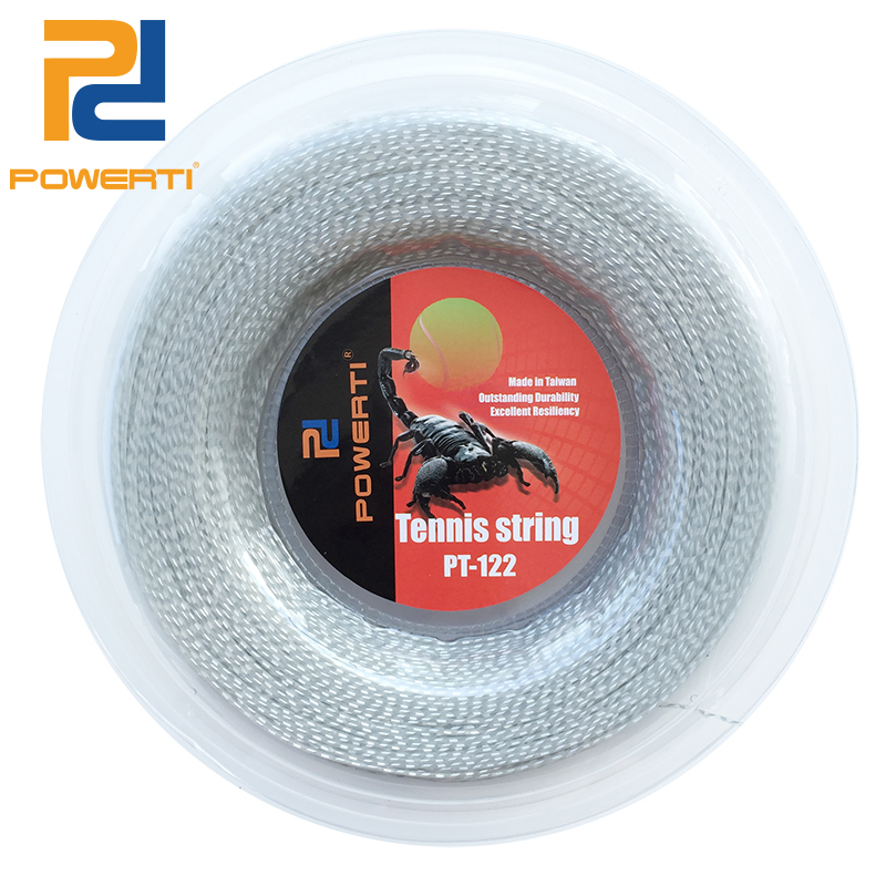 Powerti 1.30mm tennis racket string nylon wire tennis training string white soft power durable string 200m reel new replacement 200m reel racquet tennis string power rough 1 25mm tennis racket string promotion soft nylon tennis racket line