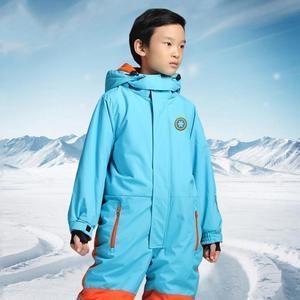 Image 2 - Çocuk sıcak vardır, su geçirmez ve nefes, bir set katı renk tulumlar.
