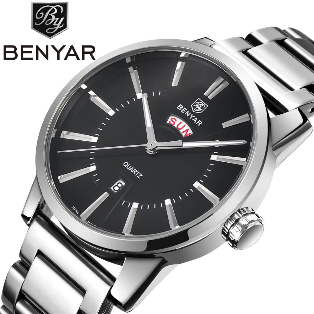 Mens Watches Stainless Steel Fashion Business Quartz Watch Male Double Calendar Top Brand Luxury Wrist Watches for Men Clock migeer relogio masculino luxury business wrist watches men top brand roman numerals stainless steel quartz watch mens clock zer
