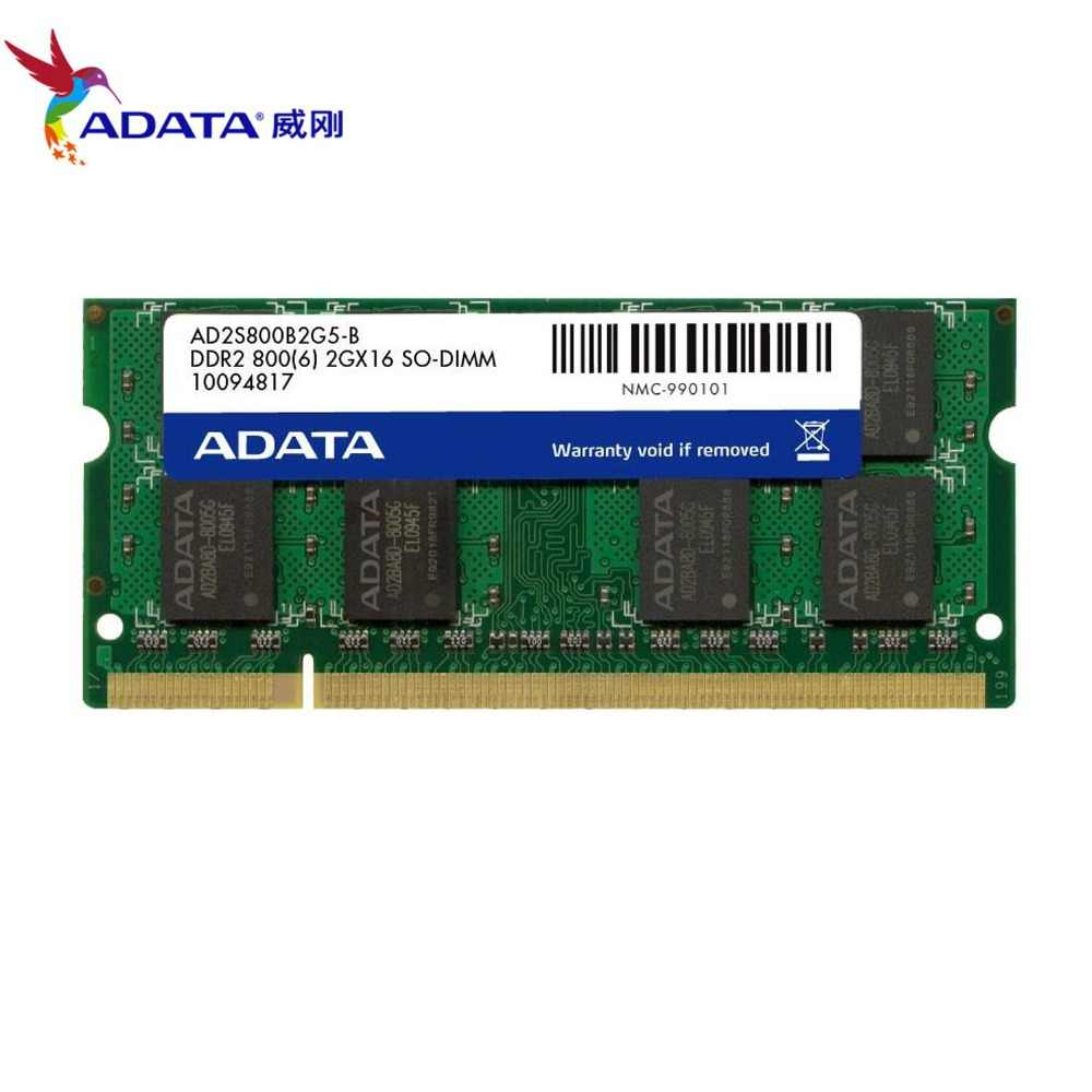 AData DDR2 2GB 800MHz PC2-6400S إنتل AMD DDR 2 2G 800 دفتر كمبيوتر محمول رام SO-DIMM 200 دبوس