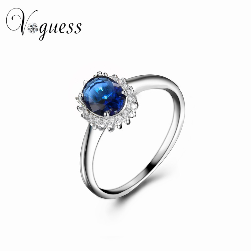 Aliexpress.com : Buy VOGUESS Noble Blue Crystal Rings for ...