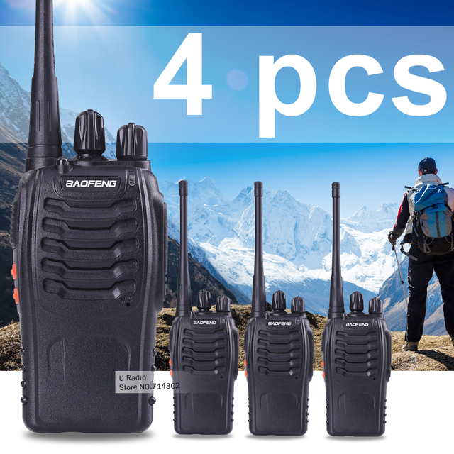 4 шт. BaoFeng 888 S Двухстороннее Радио Handheld Bao Feng Портативный Walkie Talkie Радио Передатчик UHF Cb Радио Transceice