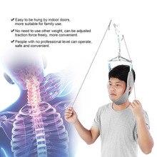 Висячие шеи тяговое устройство шейки тяги фиксации шестерни коррекция шеи носилки боли хиропрактика массажер для головы