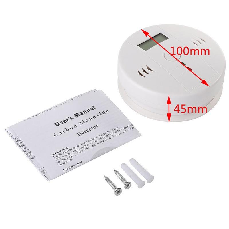 Hot Sale LCD White CO Carbon Monoxide Tester Poisoning Gas Sensor Warning Alarm Detector