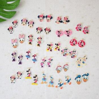 650e47687529 De dibujos animados lindo de pendientes de moda encantadora diseño Ratón Mickey  Minnie Mouse Pato Donald
