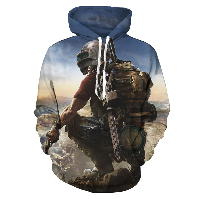 2018 New Fashion Mens 3d hoodies Game  printed men Hooded sweatshirt street PUBG Hoodies LM-489