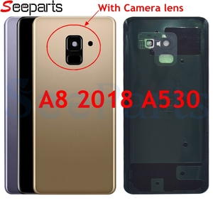 For Samsung Galaxy A8 2018 Back Battery Cover A530 SM-A530N Replacement Parts For Samsung A530 Rear Housing Cover + Camera Lens