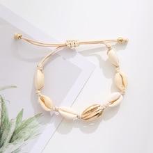 Hot Sale Handmade Natural Seashell Hand Knit Bracelet Shells Bracelets Women Accessories Beaded Strand