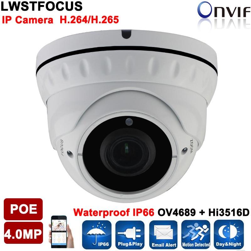 ФОТО Varifocal LWIRDNTS400 Dome IP Camera 4MP IR Distance 30M Outdoor Surveillance Camera Onvif 2.4 P2P Security CCTV Camera IP cam